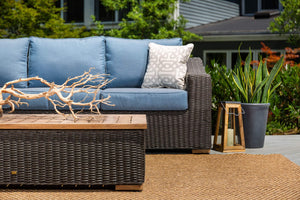 La-Z-Boy Outdoor ANWB CT Patio Sofa Set, Coffee Table, Denim Blue