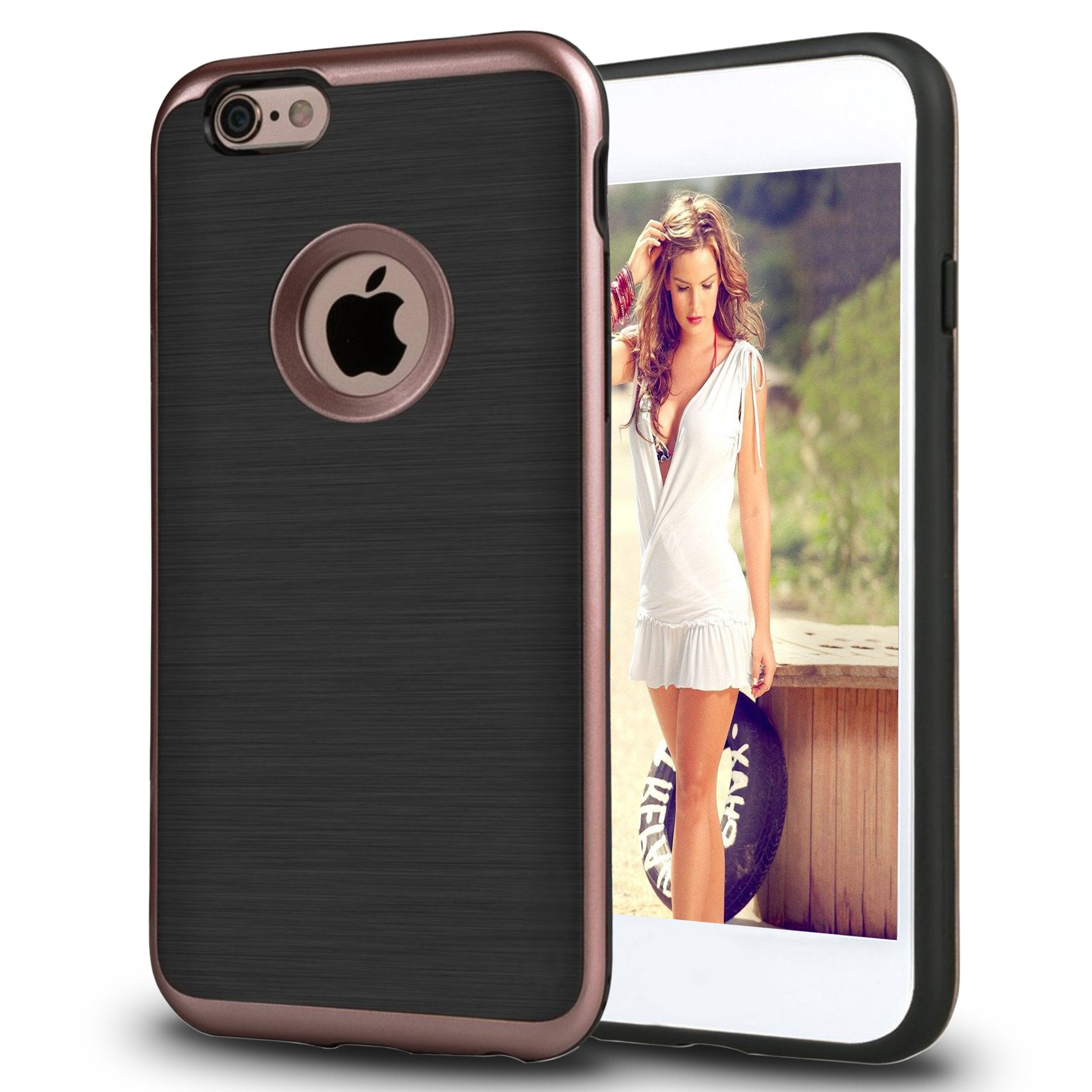 Ailun Phone Case for iPhone 6s iPhone 6 Reinforced Soft Interior TPU Bumper Solid PC Frame Shock Absorption Skid Proof Anti Scratch Fingerprint Oil Stain Back Cover Rose Gold