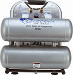 California Air Tools CAT-4610S Ultra Quiet & Oil-Free 1.0 hp 4.6 gallon Steel Twin Tank Electric Portable Air Compressor, Silver