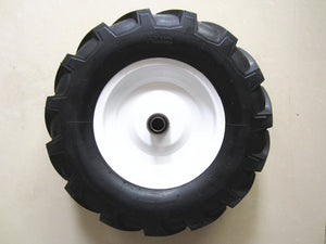 "Kunhua 16-AF-B-FK-20 4.80/4.00-8"" Pneumatic (Air-Filled) Tire with Ag Tread, 6"" Centered Hub(Two Sides Symmetrical), 3/4"" Ball Bearings,15.5"" Tire Diameter"
