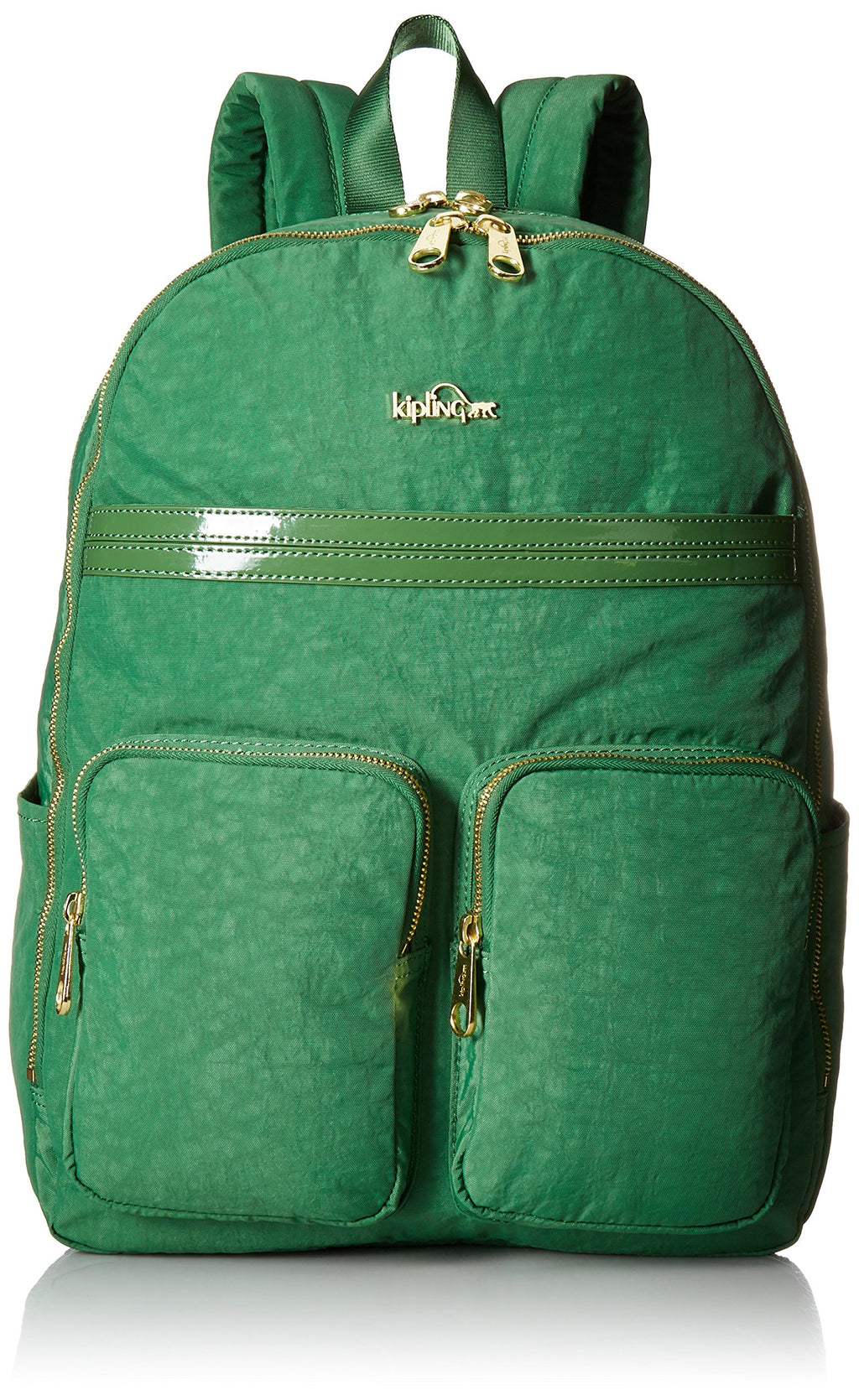 Kipling Tina Backpack, Emerald Dream Patent Combo, One Size