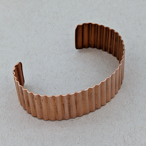 Crinkle Copper Cuff