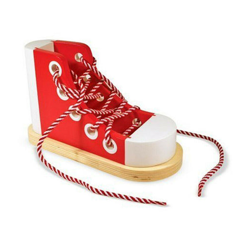 JUEGO ZAPATO WOODEN LACING SHOE