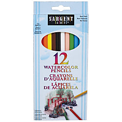 12 Watercolor Pencils Sargent Art