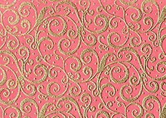 PAPEL DECORADO ROSADO CON RELIEVE DORADO 22X29PULG
