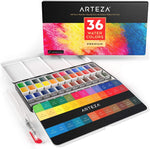 SET DE WATERCOLOR ARTEZA 36 COLORES