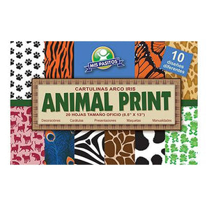 BLOCK DE CARTULINA ANIMAL PRINT