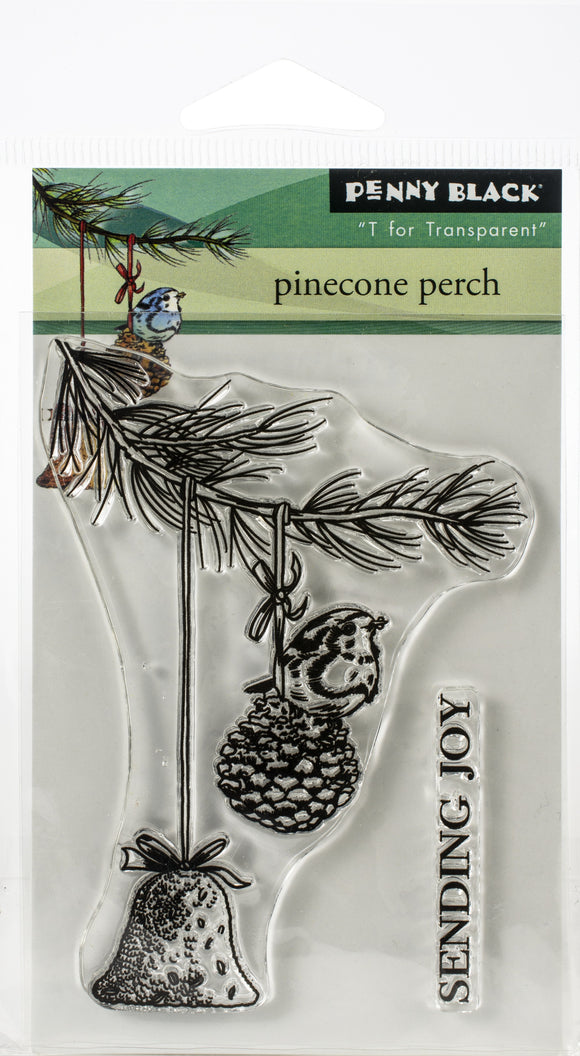 SELLO TRANSP PINECONE PERCH