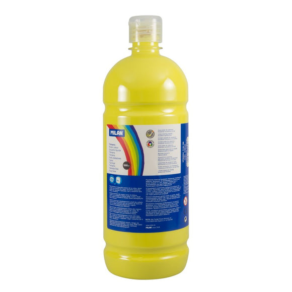 PINTURA TEMPERA AMARILLO MILAN 1000ML