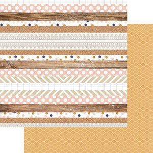 Multi Stripe - Papel Scrapbook - 12 x 12