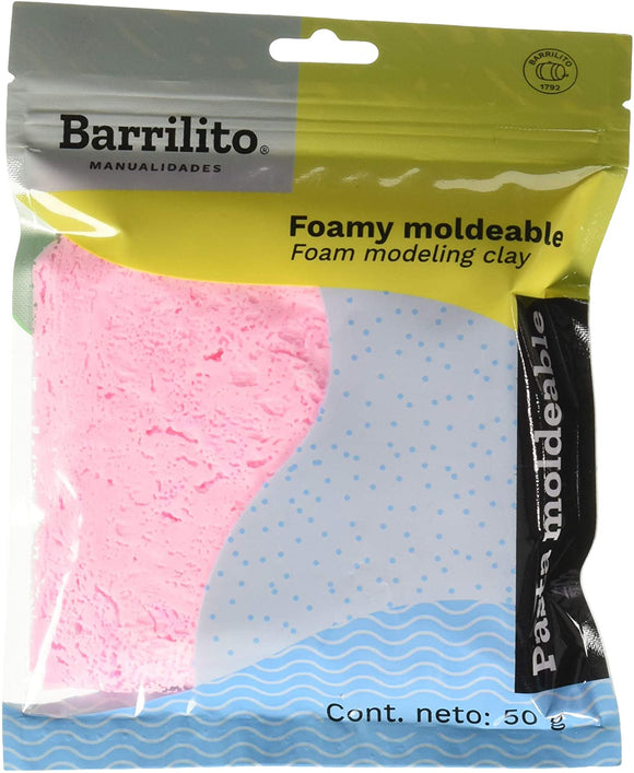 FOAMY MOLDEABLE ROSADO BARRILITO 50GR