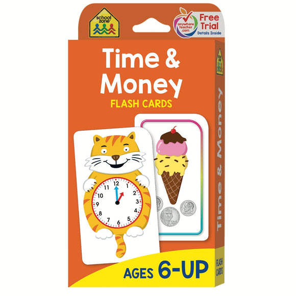 FLASH CARDS TIME & MONEY SCHOOL ZONE