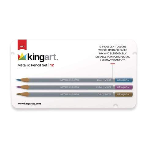 SET DE LAPICES DE COLORES METALICOS KINGART