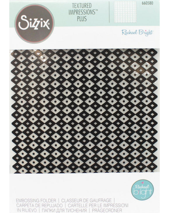TEXTURED EMBOSSING FOLDER DIAMANTES