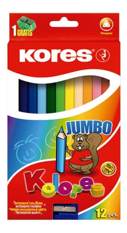 COLORES KORES JUMBO 12CLRS