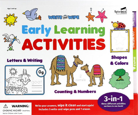WRITE AND WIPE EARLY LEARNING ACTIVITES