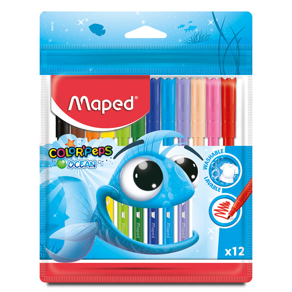 Marcadores Maped 12 Colorpeps