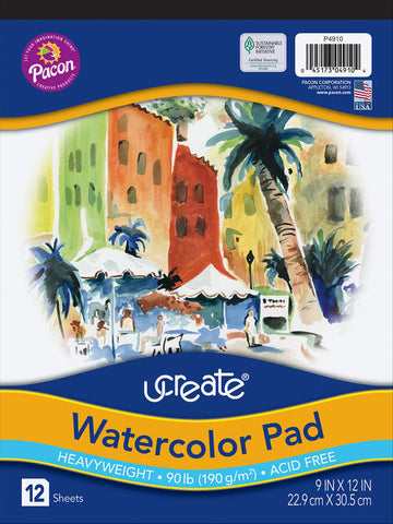 WATERCOLOR PAD 9 X12 4910