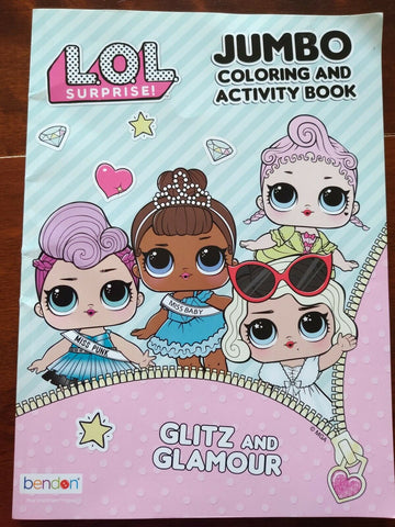 LIBRO DE COLOREAR LOL SURPRISE GLITZ AND GLONOR