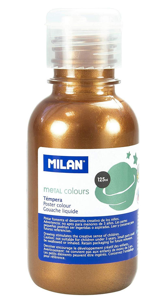 PINTURA TEMPERA BRONCE METALIZADA 125ml
