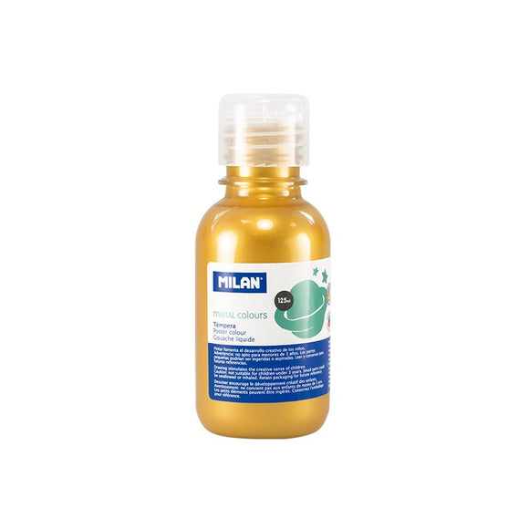 PINTURA TEMPERA DORADA METALIZADA 125 ml