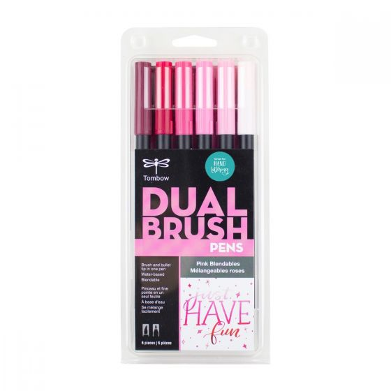 SET DE MARCADORES DUAL BRUSH ROSAS BLENDABLES TOMBOW 6 PZA