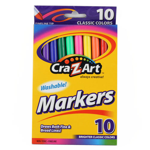 MARCADORES CRAZY ART 10 COLORES