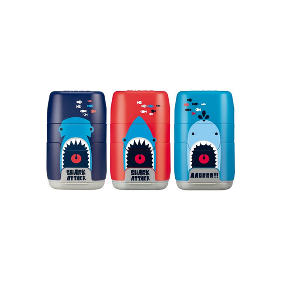 SACAPUNTA/BORRADOR COMPACT SHARK ATTACK DOBLE - MILAN