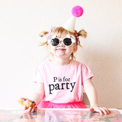 P is for Party Birthday Shirt!
