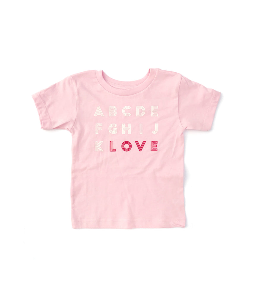 ABCD pink tee