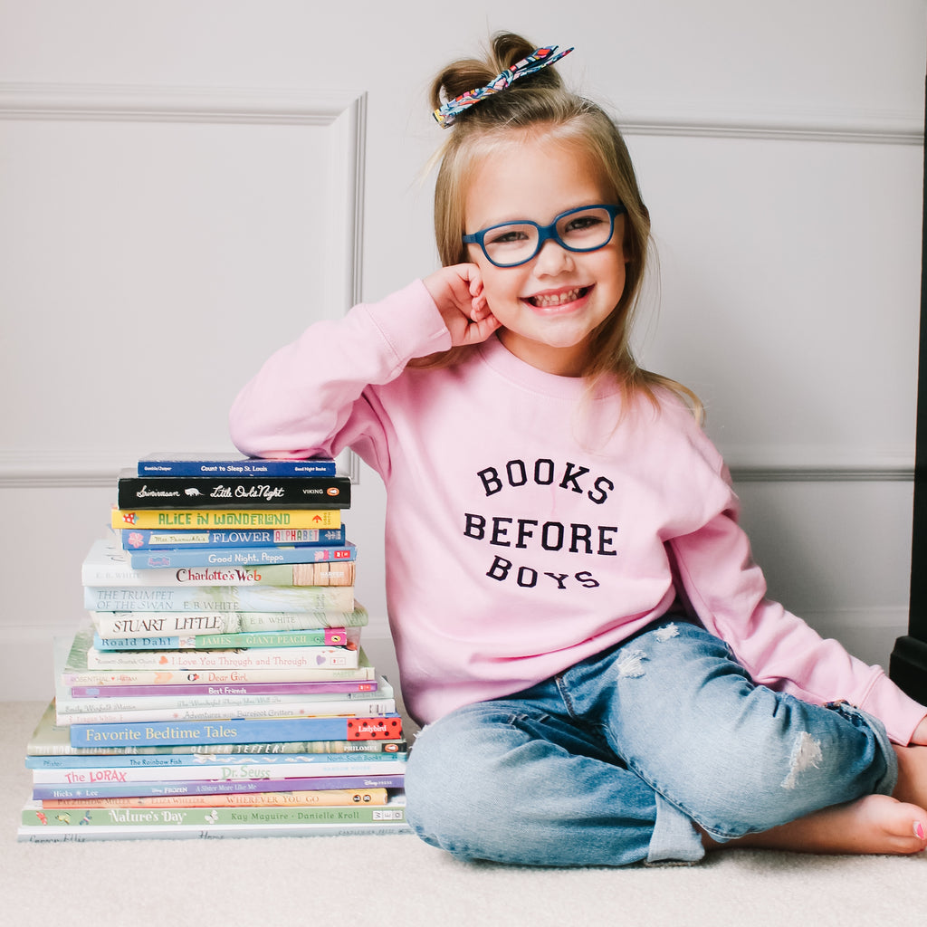 Books Before Boys Sweatshirt