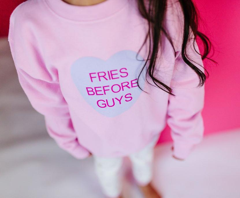 Pink Pullover Conversation Hearts