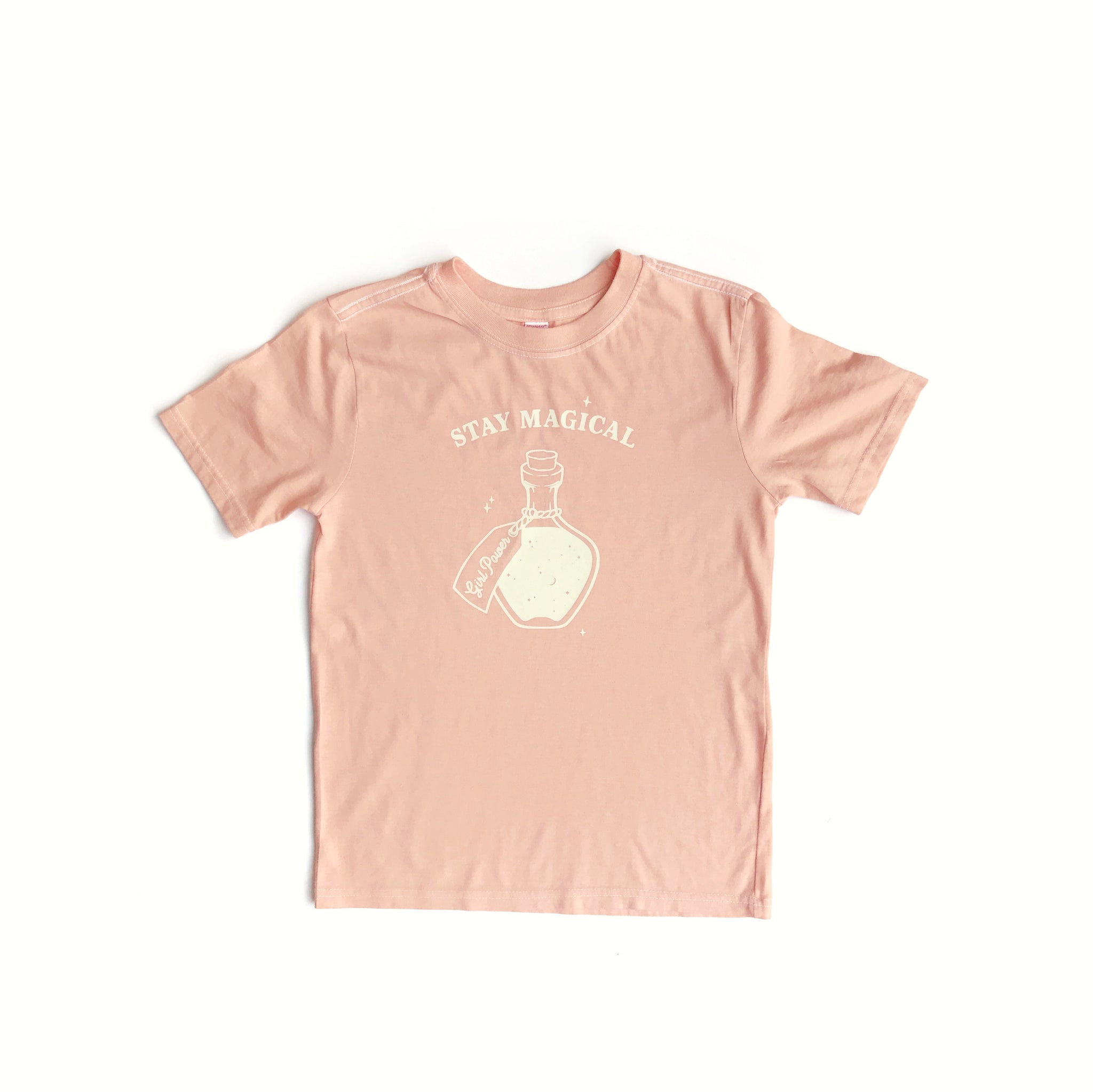 Stay Magical, Girl Power Potion Peach Tees