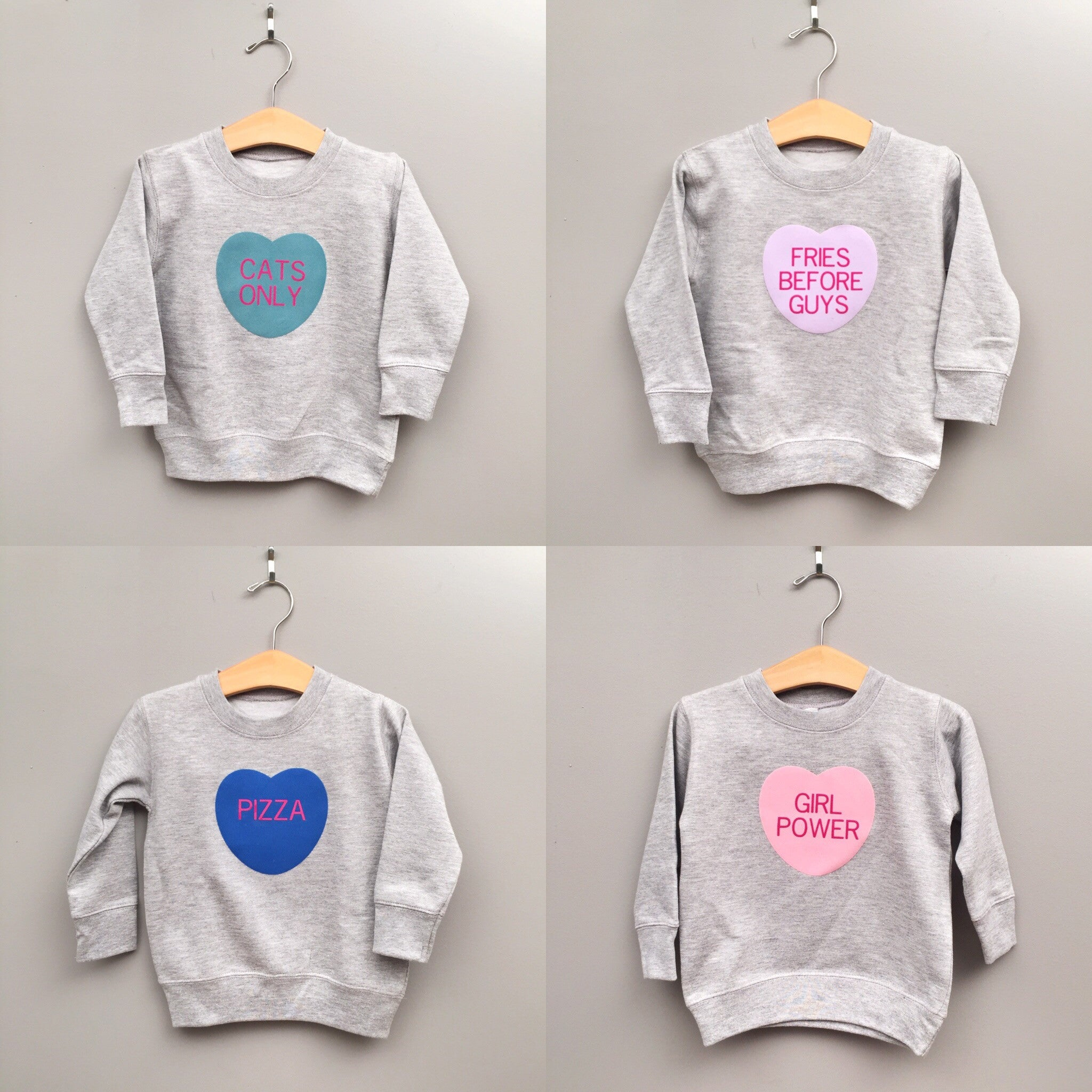 Custom Conversation Heart Crewneck