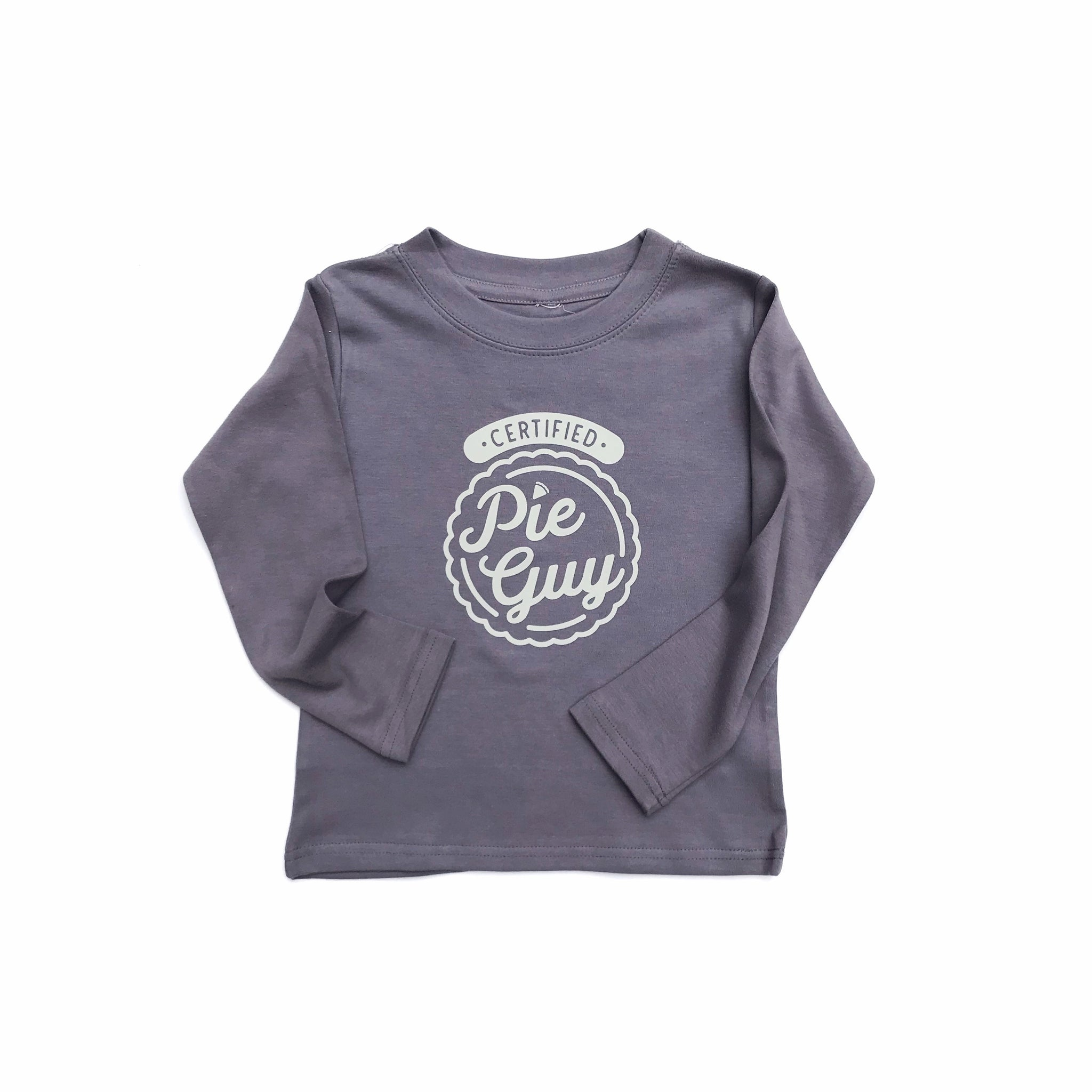 Pie Guy -  LS Slate Grey