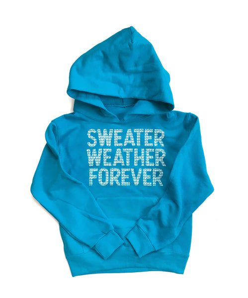 Youth Sweater Weather Forever Hoodie, Bright Blue