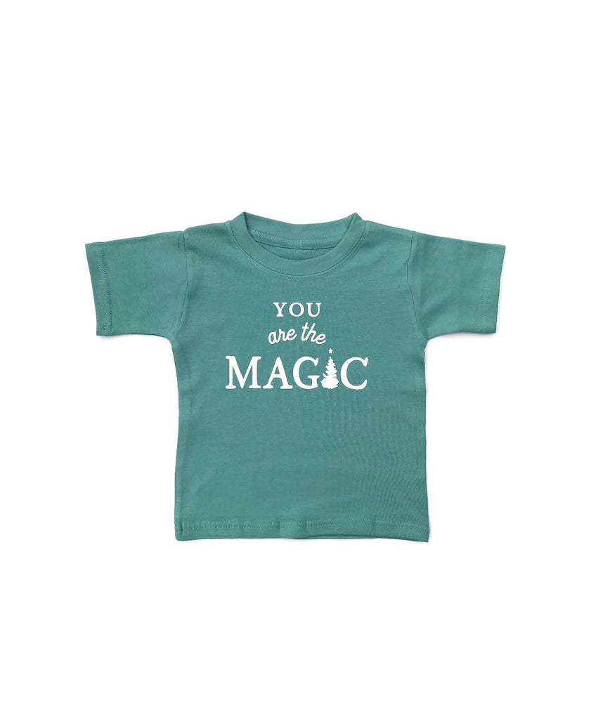 You are the MAGIC, blue sage tee