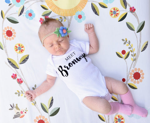 Personalized Birth Announcement Bodysuit