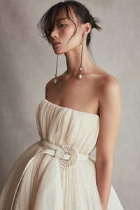 Oyster Pearl and Leather Belt, Helen Dress