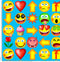 EB2 Emoticons blue background.