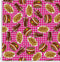 FD14 Burger chips pink tablec cloth.
