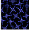 Gothic cross blue on black pattern.