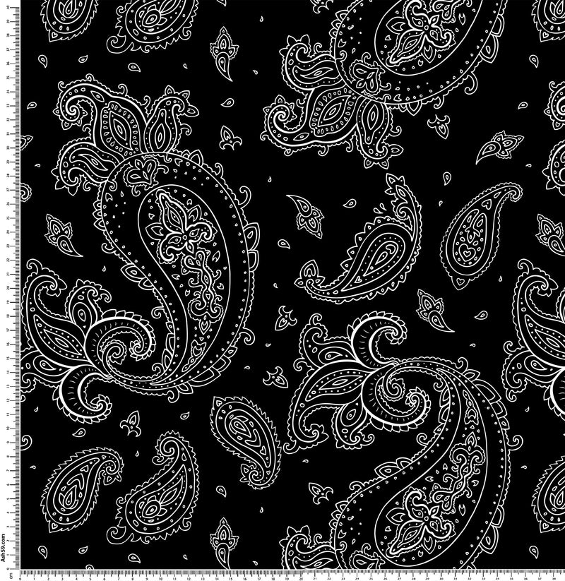 Paisley Black and White.