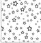 Stars Black White Pattern.