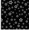 Stars white black pattern.