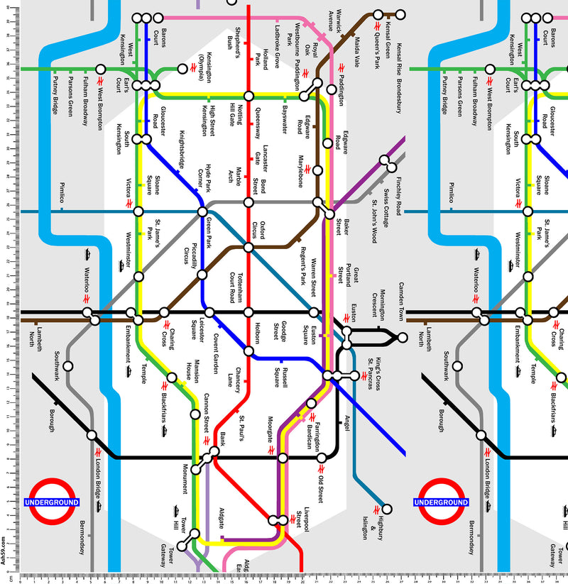 Underground Map Pattern.