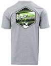 RGR74 - Graphic S/S Tee - Heather Grey - Gone Fishing (Green)