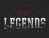 RGR54 - Graphic S/S Tee - Black - Still Building Legends One at a Time