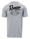 RGR58 - Graphic S/S Tee - Heather Grey - Hook Banner