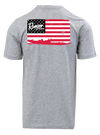 RGR98 - Graphic S/S Tee - Heather Grey -American Flag